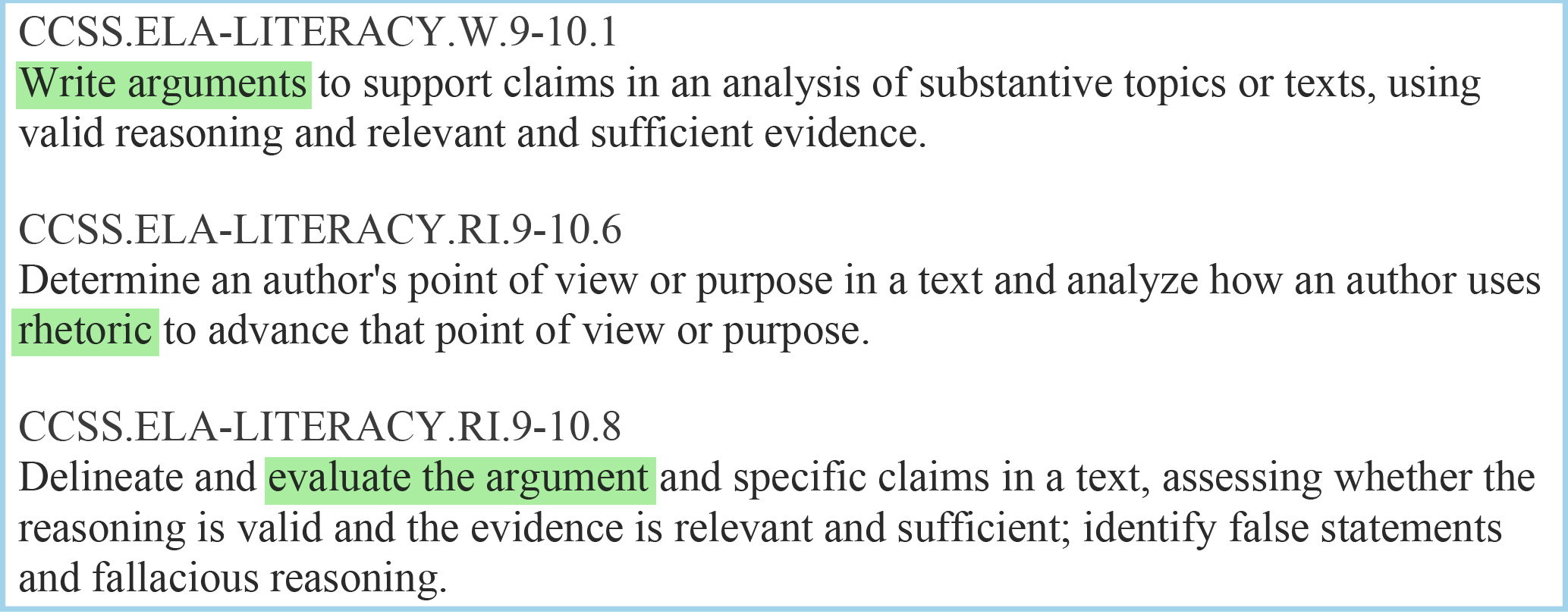 Teach Argument Writing CCSS